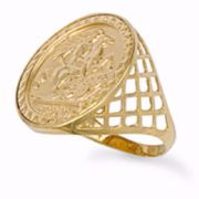 9ct Gold Full Sovereign Heavyweight Medallion Ring 5g
